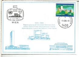 NACIONES UNIDAS ONU UNITED NATIONS 1984 WIEN ARQUITECTURA - Centre International De Vienne