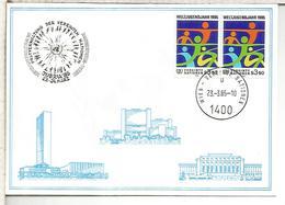 NACIONES UNIDAS ONU UNITED NATIONS 1985 RIEDA WIEDENBRUCK - Centre International De Vienne