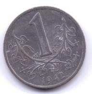 BÖHMEN UND MÄHREN 1942: 1 Krone, KM 4 - [ 4] 1933-1945 : Tercer Reich