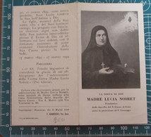 Serva Di Dio Madre Lucia Noiret Fondatrice Ancelle Sacro Cuore Di Gesù SANTINO - Santini