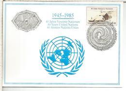NACIONES UNIDAS ONU UNITED NATIONS 1985 WIEN - Centre International De Vienne