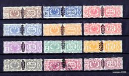 1945 - Luogotenenza Pacchi Postali Fascio Littorio Soprastampati - CPL Ss 48-59  MNH/** (tranne 10L. Con Timbro) - 5. 1944-46 Lieutenance & Umberto II