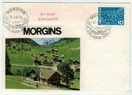Suisse // Schweiz // Switzerland //  // Lettre Au Départ De Morgins (1er Jour) - Non Classés