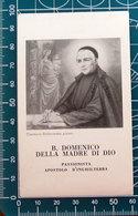 Beato Domenico Della Madre Di Dio Passionista Apostolo D'Inghilterra SANTINO Preghiera - Santini