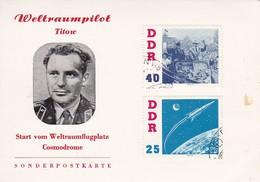 DDR Sonderpostkarte Mit Mi.-Nr. 867, 868 (aufgeklebt) - Weltraumpilot Titow - Weltraumflug (49259) - Covers & Documents