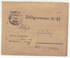 Suisse // Schweiz // Switzerland // Télégramme  // Lettre-Télégramme Pour Montana-Vermala Linéaire 24.04.1906 - Telegraafzegels