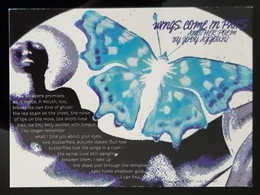 Wings Come In Peace Butterfly Carte Postale - Advertising