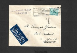 1 Er Courrier Aèrien Parachuté Bruxelles Gand I Du 13/09/1946 - Airmail
