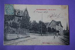 CPA 25 CHARQUEMONT RUE DU CENTRE ANIMEE RARE PLAN Canton MAICHE 1907 - Other Municipalities