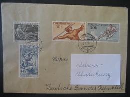 Tschechoslowakei- Bedarfsbeleg Gelaufen Von Svetin Nach Hildesheim Mi. 1116 Und 1117 - Briefe U. Dokumente