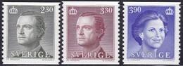 Schweden, 1989, 1534/36, MNH **, König Carl XVI. Gustav Und Königin Silvia. - Nuevos