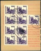 """1991, Einzahlungsquittung Für Postfachgebühren JENA-LOBEDA, """"VGO""""-MeF 9-mal 200 Pfg. Bauwerke - [6] République Démocratique"""