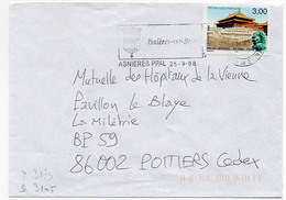 France N° 3173 Y. Et T. Hts De Seine Asnières Flamme Illustrée Du 25/09/1998 - Postmark Collection (Covers)