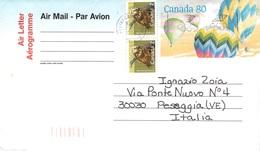 CANADA - AEROGRAMME 1992 - ITALY  /ak1038 - 1953-.... Regno Di Elizabeth II