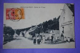 CPA 89 MAILLY LA VILLE Entrée Du Village TOP ANIMEE COMMERCE DOCKS DE L'YONNE 1921 - France