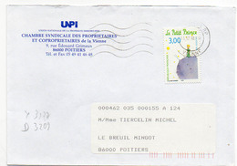 France N° 3177 Y. Et T. Vienne Poitiers RP Flamme Muette Du 11/12/1998 - Postmark Collection (Covers)