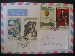 Tschechoslowakei- Beleg Tschechische Grafik Mi. 2117-2120 - Briefe U. Dokumente