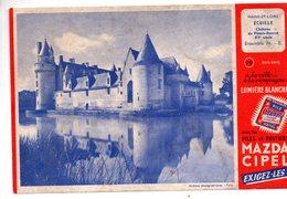 Ecuillé (49 Maine Et Loire)  Le Château, Buvard MAZDA CIPEL  (PPP11849 - Accumulators