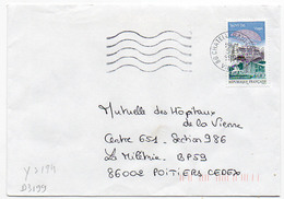 France N° 3194 Y. Et T. Vienne Châtellerault Ppal Flamme Muette Du 05/01/1999 - Postmark Collection (Covers)