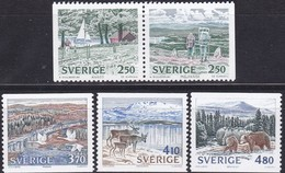 Schweden, 1990, 1582/86,  MNH **, Natur - Nationalparks. - Sweden