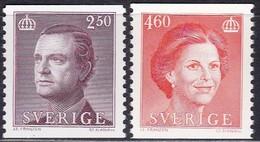Schweden, 1990, 1587/88,  MNH **, König Carl XVI. Gustav Und Königin Silvia. - Svezia