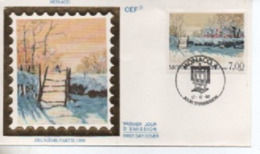 MONACO FDC   MONET    N° YVERT ET TELLIER  1747 1990 - FDC
