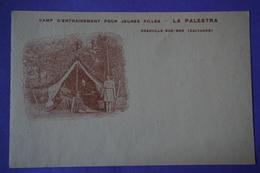 CPA 14 DEAUVILLE-SUR-MER LA PALESTRA CAMP ENTRAINEMENT POUR JEUNES FILLES RARE PLAN - Deauville
