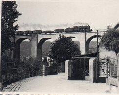 V83Gt 57 Knutange Photo Originale Le Train Sur Le Viaduc - Andere Gemeenten