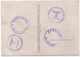 GEUDERTHEIM - ALSACE - WW2 / DIFFERENTS CACHETS PERIODE D'OCCUPATION SUR CP DE KAPPEL - NSDAP LOCALE (ref LE4041) - Alsace-Lorraine