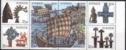 Schweden, 1990, 1592/99,  MNH **, Die Wikinger. - Svezia