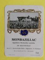 VIEILLE ETIQUETTE MONBAZILLAC 73CL - Bordeaux