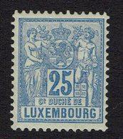 25 Centimes Blue Hinged - 1882 Allégorie