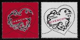 N° 3996/3997 SAINT-VALENTIN COEURS 2007 DE LA MAISON DE COUTURE GIVENCHY NEUFS ** TTB COTE 6,20 € - Frankreich