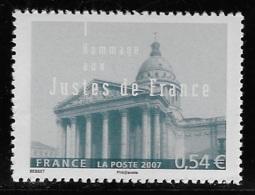 N° 4000 HOMMAGE AUX JUSTES DE FRANCE NEUF ** TTB COTE 1,70 € - Frankreich