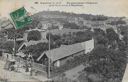 ARGENTEUIL -  VUE PANORAMIQUE D ORGEMONT PRISE DE LA RUE DE LA REPUBLIQUE -  CALECHE - Argenteuil