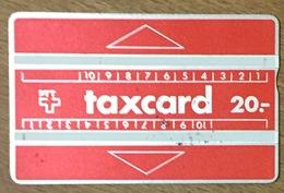SUISSE PTT TAXCARD 20 TÉLÉCARTE PHONECARD UT CARD TELECARTE - Suiza