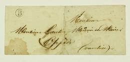 Lettre 1854 Bonnieux, Boite Rurale B --> Oppède, Par Apt, Taxe Port Local 1 Decime, Tad Bonnieux Type 22 Au Dos - Marcophilie (Lettres)