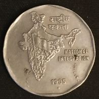 INDE - INDIA - 2 RUPEES 1995 - NATIONAL INTEGRATION - KM 121 ( Mumbai ) - India