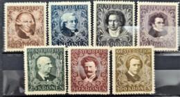 AUSTRIA 1922 - MLH - ANK 418-424 - Complete Set! - Komponisten - 1918-1945 1st Republic
