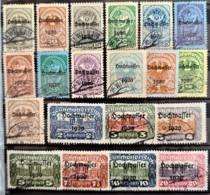 AUSTRIA 1921 - Canceled - ANK 340-359 - Hochwasser 1920 - Usados