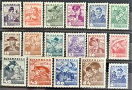 AUSTRIA 1934/36 - MNH/MLH - ANK 567-582 - Ungebraucht
