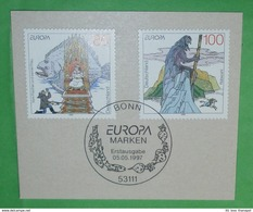 "BUND BRD 1915-1916 Cept Europe - Sagen Und Legenden (""FDC"" - ETB - Ausschnitt)(5462A) - [7] République Fédérale"
