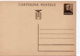 REPUBBLICA SOCIALE ITALIANA - INTERO POSTALE CENT. 30 - NON VIAGGIATA - Sin Clasificación