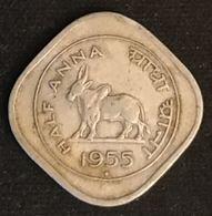 INDE - INDIA - ½ - 1/2 - HALF ANNA 1955 - KM 2.2 - ( Vache Sacrée ) - Mumbai - Indien