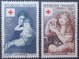 DF/1100 - 1954 - CROIX ROUGE - N°1006 à 1007 ☉ - Cote (2020) : 26,00 € - France