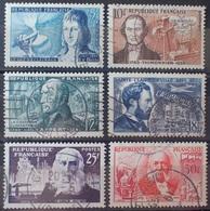 DF/1101 - 1955 - CELEBRITES - N°1012 à 1017 ☉ - Cote (2020) : 13,00 € - France