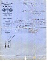 71.PERRECY LES FORGES.CRUCHONS A LIQUEURS.BOUTEILLES & CANETTES A BIERE.BOSSOT MANUFACTURE DE CIRY.1864..(P.J) - 1800 – 1899