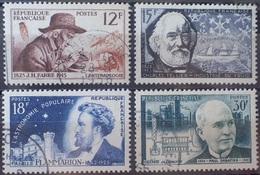 DF/1104 - 1956 - CELEBRITES (SERIE COMPLETE) - N°1055 à 1058 ☉ - France