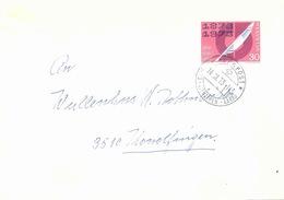 Brief  Balm Gontenschwil - Konolfingen  (Bahnstempel Aarau - Menziken - Aarau)         1973 - Chemins De Fer