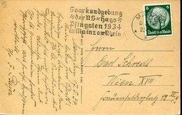 53536 Germany Reich,circuled Card 1934 With Special Postmark Mainz 1934 Saarkungebung Der NS=hago Pfingsten In Mainz - Alemania